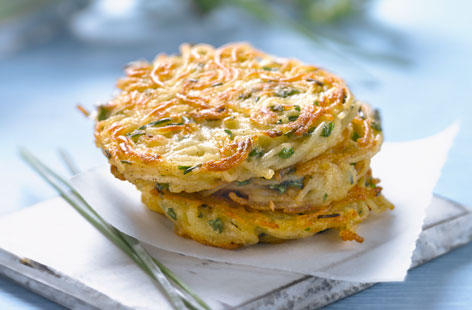 vegetable julienne rosti
