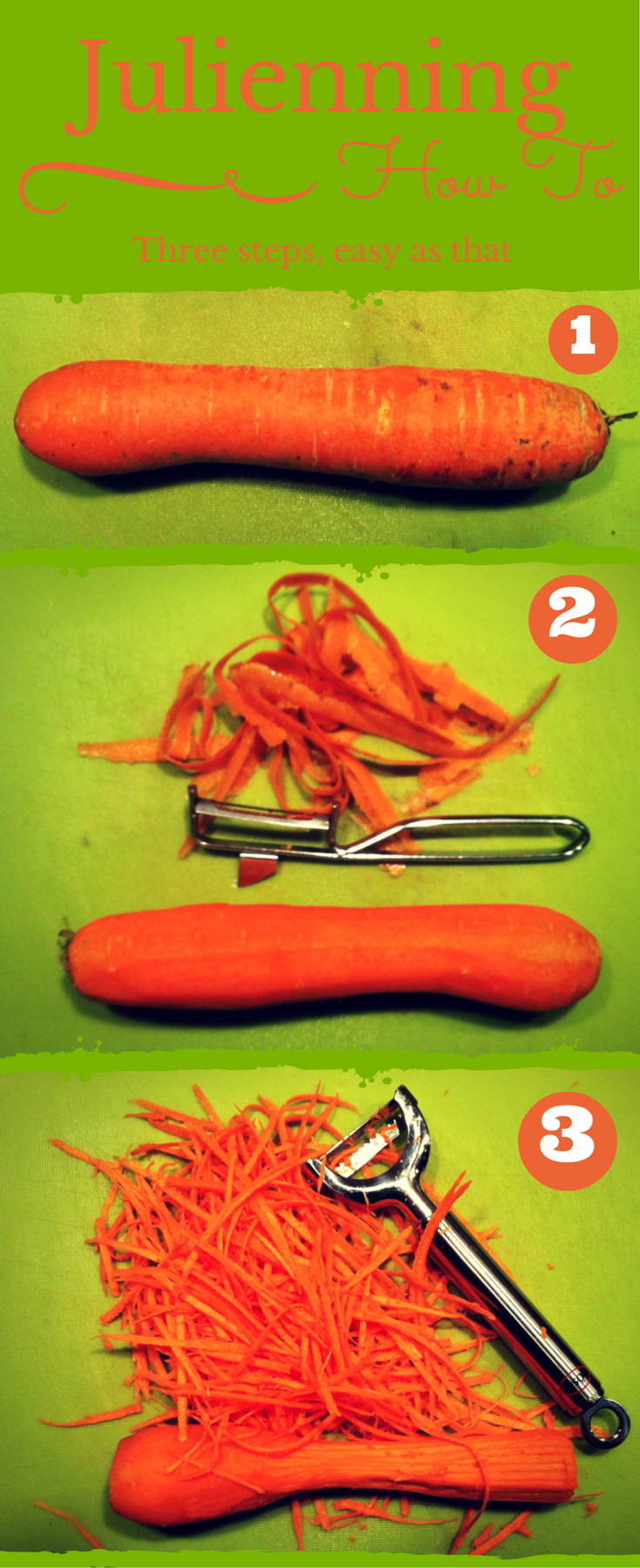Infographic - The art of Julienning - how to make julienne