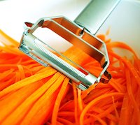 Itali Passio - Deluxe Stainless Steel Dual Julienne Peeler & Vegetable Peeler